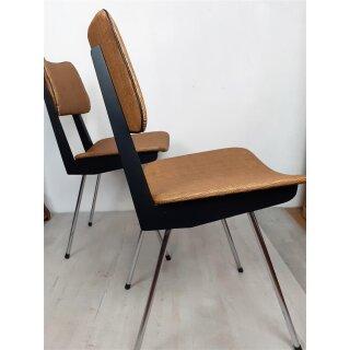 2 Küchenstühle (Set) Stuhl Mid Century 50er Metallbeine Boomerang neu gepolstert